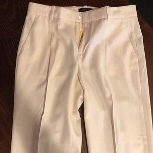 J Crew Super 120's off white pant